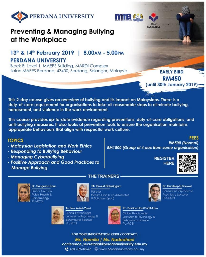 Managing & Prevention of Bullying At Workplace