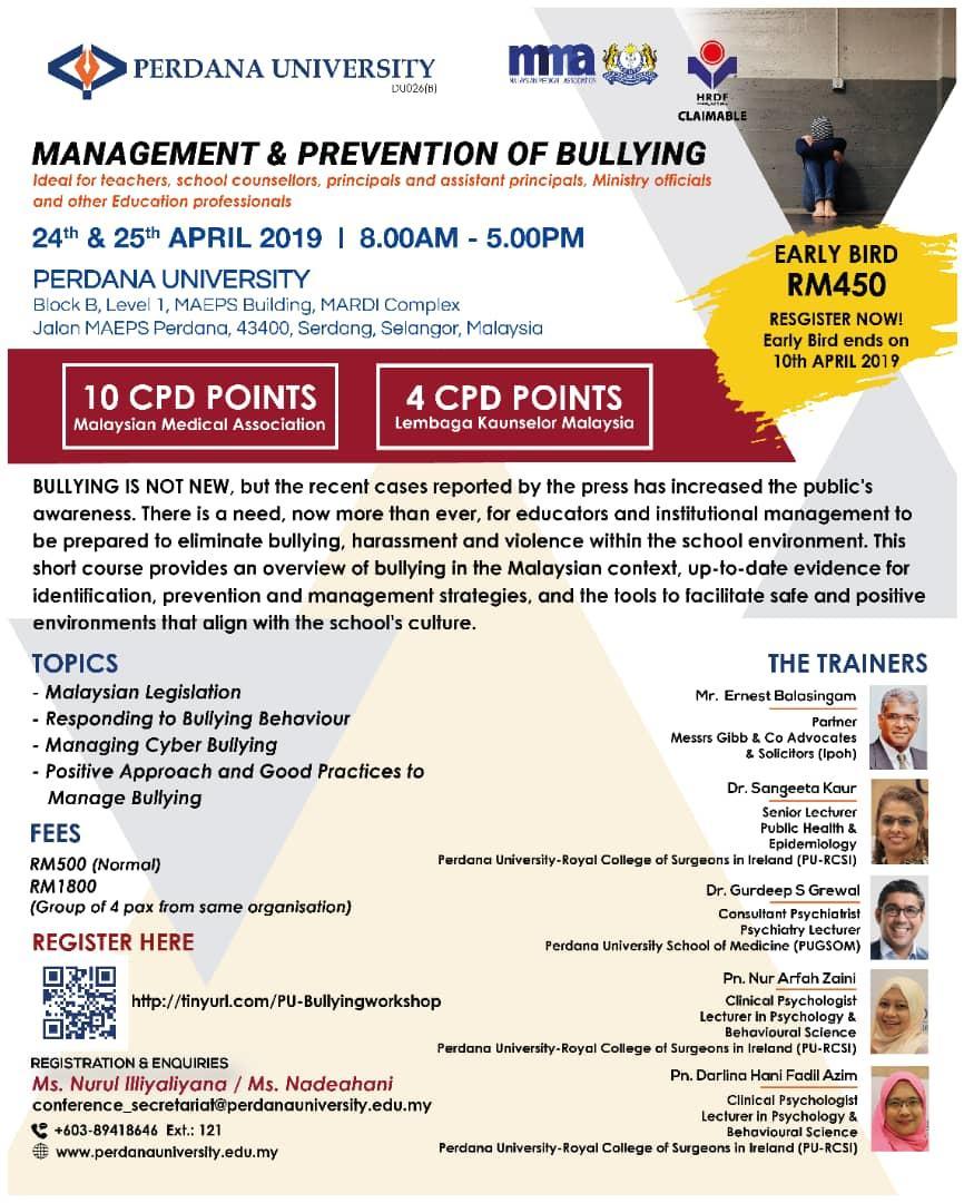 Managing & Prevention of Bullying